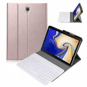 For Samsung Galaxy Tab S5e 10.5 SM-T720/T725 Detachable Bluetooth Keyboard Leather Case - Rose Gold