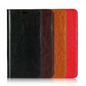 For Samsung Galaxy S20 Ultra Plus S10 Plus A50 Genuine Leather Flip Card Slots Wallet Phone Case Cover