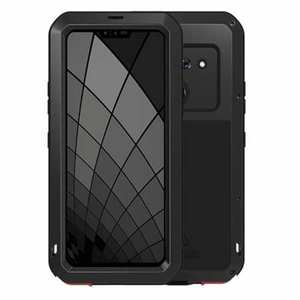 For LG G8 ThinQ Metal Shockproof Aluminum Case Cover - Black