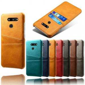 For LG G8 ThinQ Shockproof PU Leather Case Card Slot Back Cover