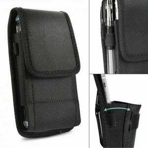 For Motorola Moto Z4 Horizontal Carrying Vertical Pouch Case Cover With Belt Clip Holster