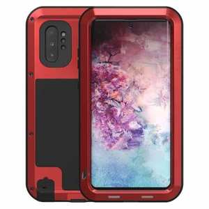 For Samsung Galaxy Note 10+ Plus LOVE MEI Powerful Aluminum Shockproof Armor Case - Red