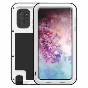 For Samsung Galaxy Note 10+ Plus LOVE MEI Powerful Aluminum Shockproof Armor Case - White