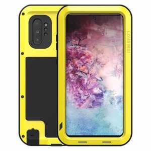 For Samsung Galaxy Note 10+ Plus LOVE MEI Powerful Aluminum Shockproof Armor Case - Yellow