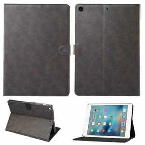 For iPad 10.2 7th 8th Gen Magnetic Wallet Card Smart Leather Stand Case Cover - Grey