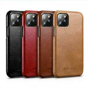 ICARER Cowhide Genuine Leather Case Cover For Apple iPhone 11 Pro Max