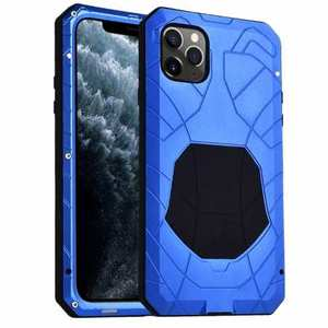 Shockproof Metal Case Aluminum Cover for iPhone 11 Pro Max - Blue