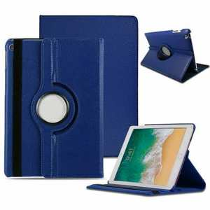 Case for iPad 7th 8th Generation 360 Degree Smart Rotating Leather Cover - Dark Blue