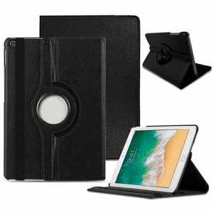 "For iPad 10.2"" 7th 8th Generation Case 360° Rotating PU Leather Magnetic Smart Stand Cover - Black"