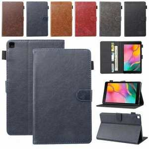 For Samsung Galaxy Tab A7 10.4 Case Leather Folio Stand Flip Cover