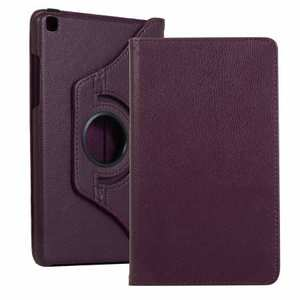 For Samsung Galaxy Tab A 8.0 2019 T290/T295 360 Rotating Leather Case Cover Stand - Purple