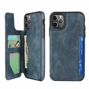 For iPhone 11 Pro - Leather Flip Wallet Card Holder Case Cover - Dark Blue