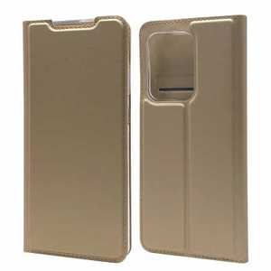 For Samsung Galaxy S20 UItra - Case Magnetic Flip Leather Wallet Stand Cover - Gold