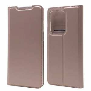 For Samsung Galaxy S20 UItra - Case Magnetic Flip Leather Wallet Stand Cover - Rose Gold