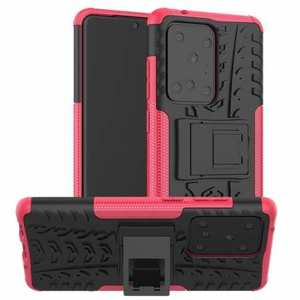 For Samsung Galaxy S20 Ultra - Case Armor Shell Heavy Duty PC Phone Cover - Hot Pink