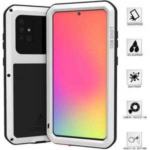 For Samsung Galaxy A71 Aluminium Metal Case Shockproof Heavy Duty Cover - White