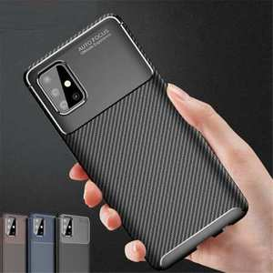For Samsung Galaxy S20 FE 5G UW Plus Ultra Case Carbon Fiber Soft TPU Phone Cover