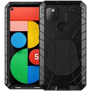 For Google Pixel 4A 5G 5 Metal Case Shockproof Aluminum Cover+Tempered Glass Screen Protector