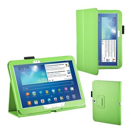 "samsung galaxy tablet 10.1 cheapest,PU Leather Flip Tablet Case Cover for Samsung Galaxy Tab 3 10.1"" P5200/P5210 - Green"