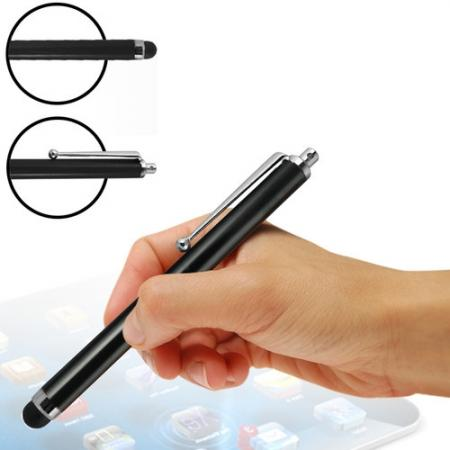 Capacitive aluminium stylus pen for mobile phones, PDA, Tablet PC, iPad & iPhone - Black