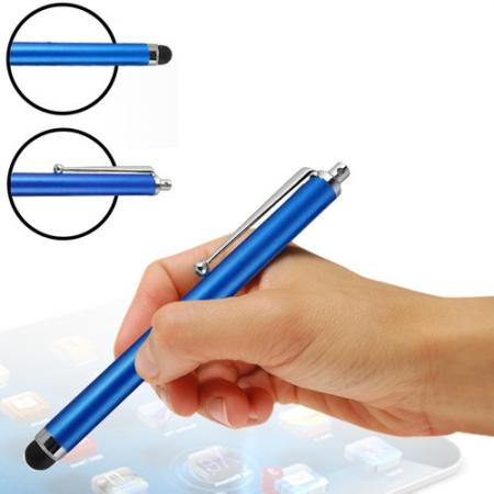 Capacitive aluminium stylus pen for mobile phones, PDA, Tablet PC, iPad & iPhone - Blue