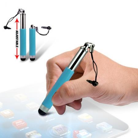 Capacitive aluminium stylus pen for mobile phones, PDA, Tablet PC, iPad & iPhone - Cyan