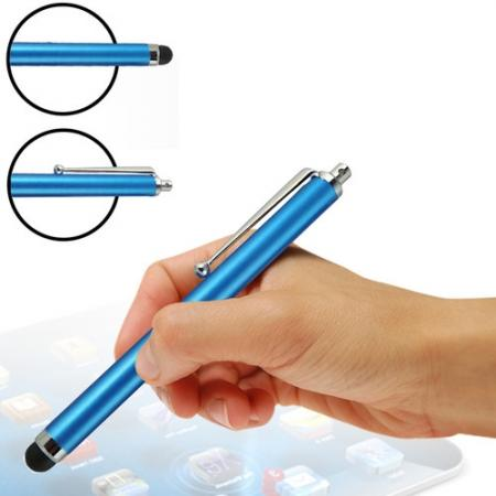 Capacitive aluminium stylus pen for mobile phones, PDA, Tablet PC, iPad & iPhone - Light blue