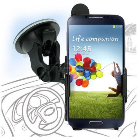 Dedicated Fit-In Suction Car Mount Holder for Samsung Galaxy S4 I9500