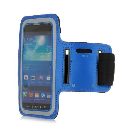 Neoprene Armband Strap Case for Samsung Galaxy S4 Active i9295 - Blue