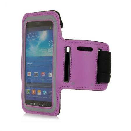 Neoprene Armband Strap Case for Samsung Galaxy S4 Active i9295 - Purple
