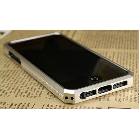 buy popular 64612 fda9b Space Aluminium + Carbon fiber Case For iPhone SE/5S/5 - Silver