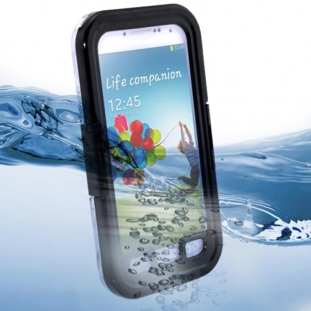 Waterproof Shockproof Dirt Snow Hard Case For Samsung Galaxy S4 SIV i9500 - Black