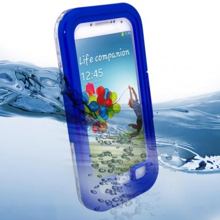 Waterproof Shockproof Dirt Snow Hard Case For Samsung Galaxy S4 SIV i9500 - Blue