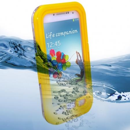 Waterproof Shockproof Dirt Snow Hard Case For Samsung Galaxy S4 SIV i9500 - Yellow