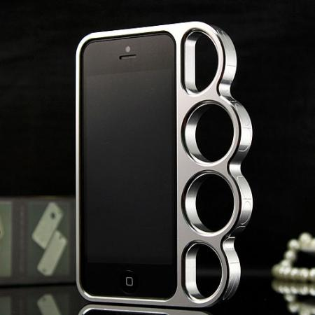 Aluminum Knuckle Ring Bumper Case for iPhone SE/5S/5/X/XS/7/8/6