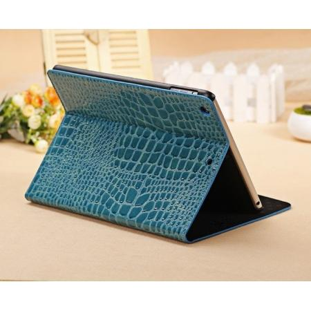 best leather ipad air cases,Luxury Crocodile Skin Pattern Leather Stand Case for iPad Air 10.5 10.2 7th 5 6 - Blue