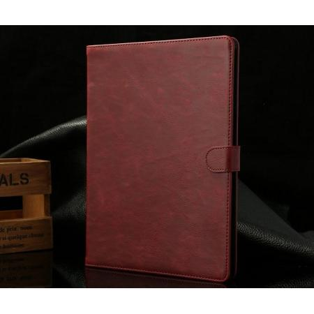 leather ipad air case sleeve,Luxury Crazy Horse Texture Leather Stand Case for iPad Air with Sleep/Wake-up Function & Card Slots - Wine Red