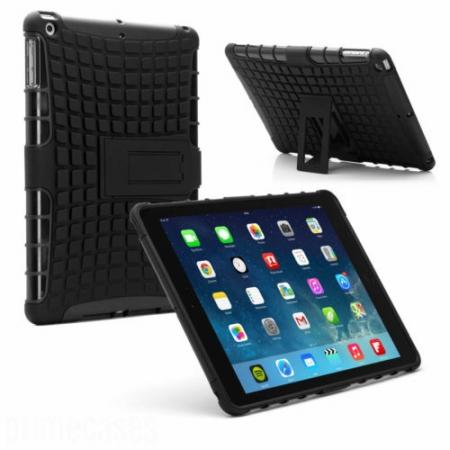 Shockproof Survivor Military Duty Hybrid Hard Case For iPad Air - Black