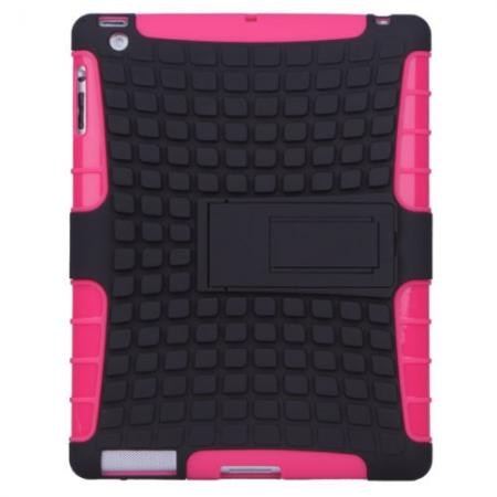 Shockproof Survivor Military Duty Hybrid Hard Case For iPad Air - Hot pink