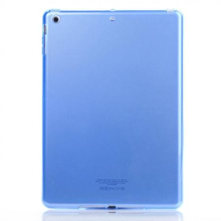 High Quality Clear Transparent TPU Soft Case Cover for Apple iPad Air 5 - Blue