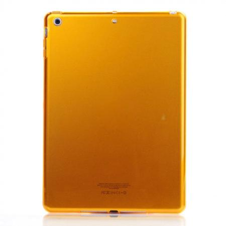 High Quality Clear Transparent TPU Soft Case Cover for Apple iPad Air 5 - Golden
