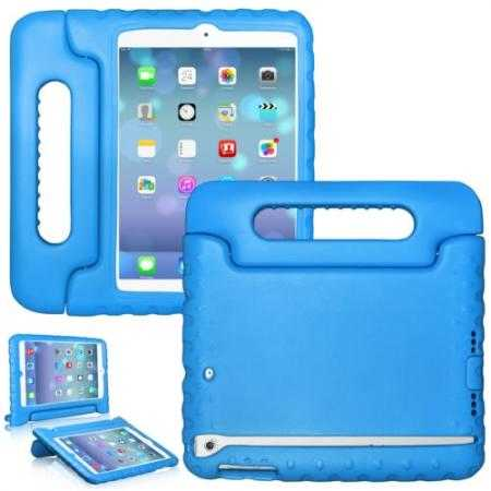 Kids Children Protective EVA Foam Cover Shockproof Case Stand for iPad Air - Blue
