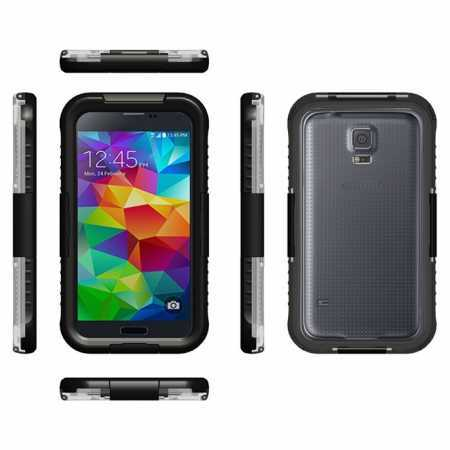 Waterproof Shockproof Dirt Proof Durable Case Cover for Samsung Galaxy S5 S6 S7 S8 S9 Note 5 Note 8 Not 9 - Black