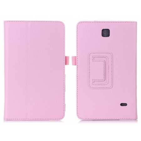 Lychee Leather Pouch Case With Stand for Samsung Galaxy Tab 4 8.0 T330 - Pink