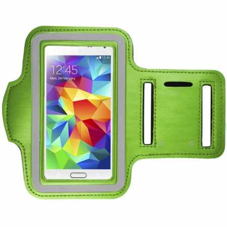 Sports Gym Running Arm Band Armband Case Cover For Samsung Galaxy S5 - Green