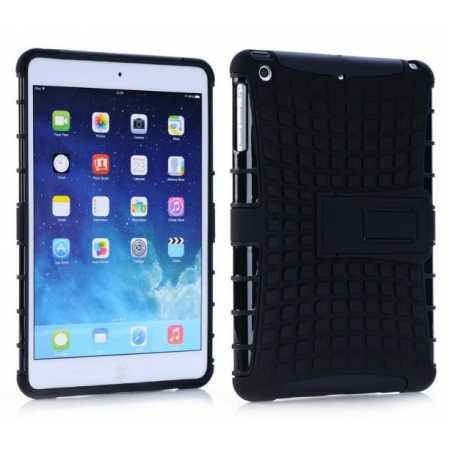 Shockproof Military Duty Hybrid Hard Case for iPad Mini 2 Retina - Black
