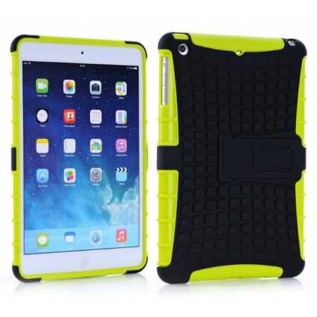 Shockproof Military Duty Hybrid Hard Case for iPad Mini 2 Retina - Green