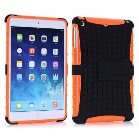 Shockproof Military Duty Hybrid Hard Case for iPad Mini 2 Retina - Orange