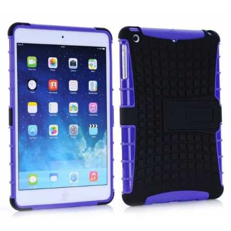 Shockproof Military Duty Hybrid Hard Case for iPad Mini 2 Retina - Purple