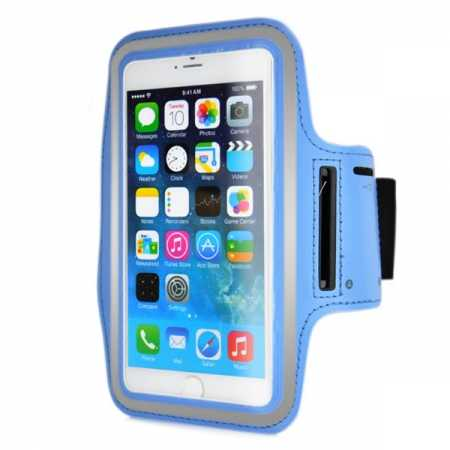 Sports Running Armband Case Cover For iPhone 6 Plus/iPhone 6S Plus 5.5inch - Light Blue